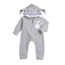 Baby Clothes Baby Rompers Hooded Long Sl
