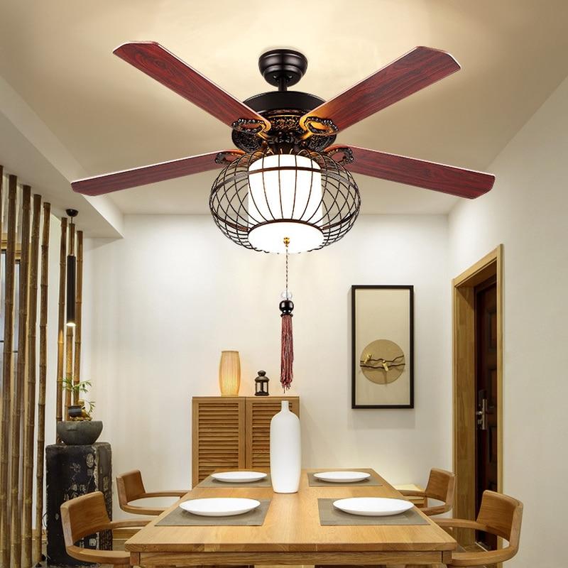 LED Ristorante Luce Ventilatore A Soffitto Soggiorno Sala da Tè Club House Lanterna Luce Ventilatore A Soffitto Ventilatore A Soffitto Led con la Luce - 2