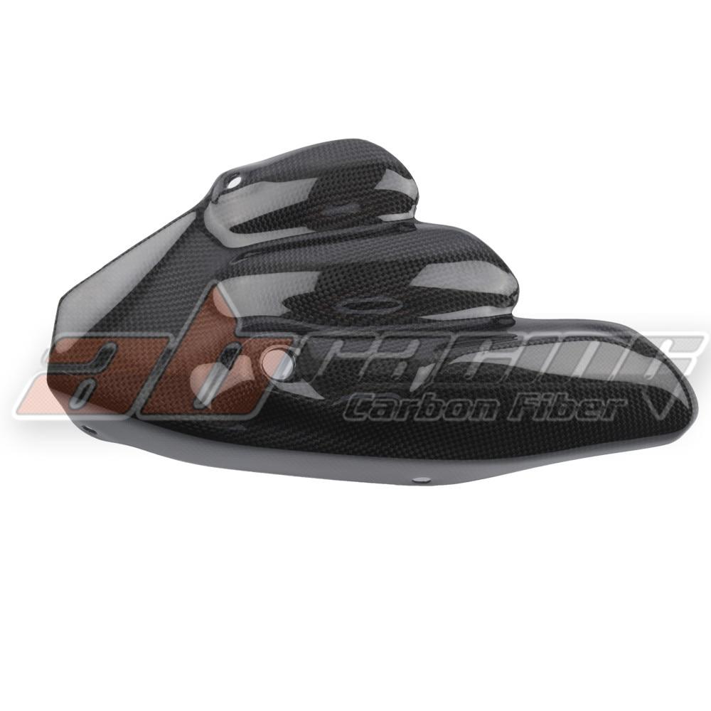 Rearset Muffler Exhaust Heat Shield Cover Guard For MV Agusta Brutale 675 / 800 / 800RR Dragster 800 / RR Full Carbon Fiber