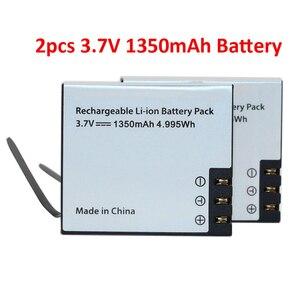 2Pcs/Set 3.7V 1350mAh Rechargable Li-ion Battery For SJ4000 for EKEN H9 H9R H3 H3R H8PRO H8R SJ4000 SJCAM SJ5000 M10 SJ5000X