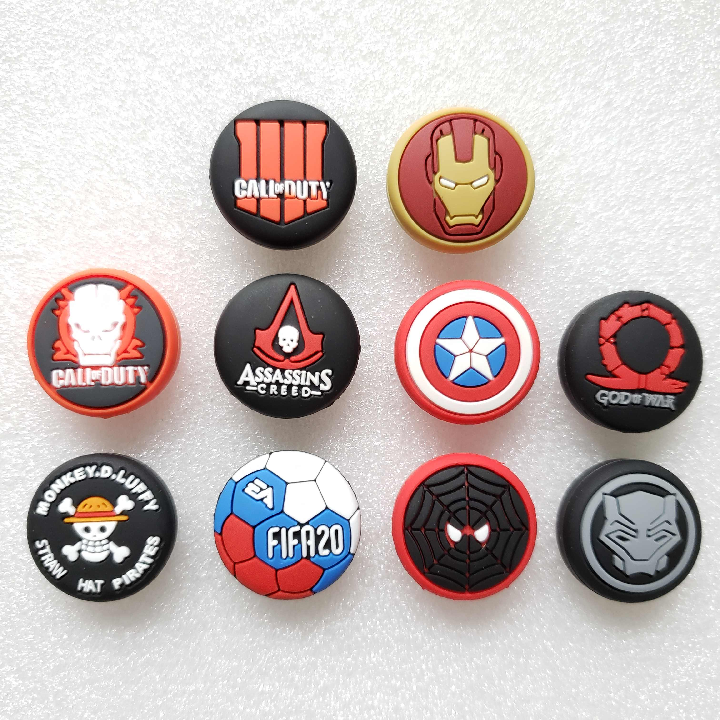 Avengers Call Of Duty Thumb Stick Grip Tutup Thumbstick Joystick Cover Case untuk Sony PS3 PS4 Slim Xbox One 360 Switch pro Controller