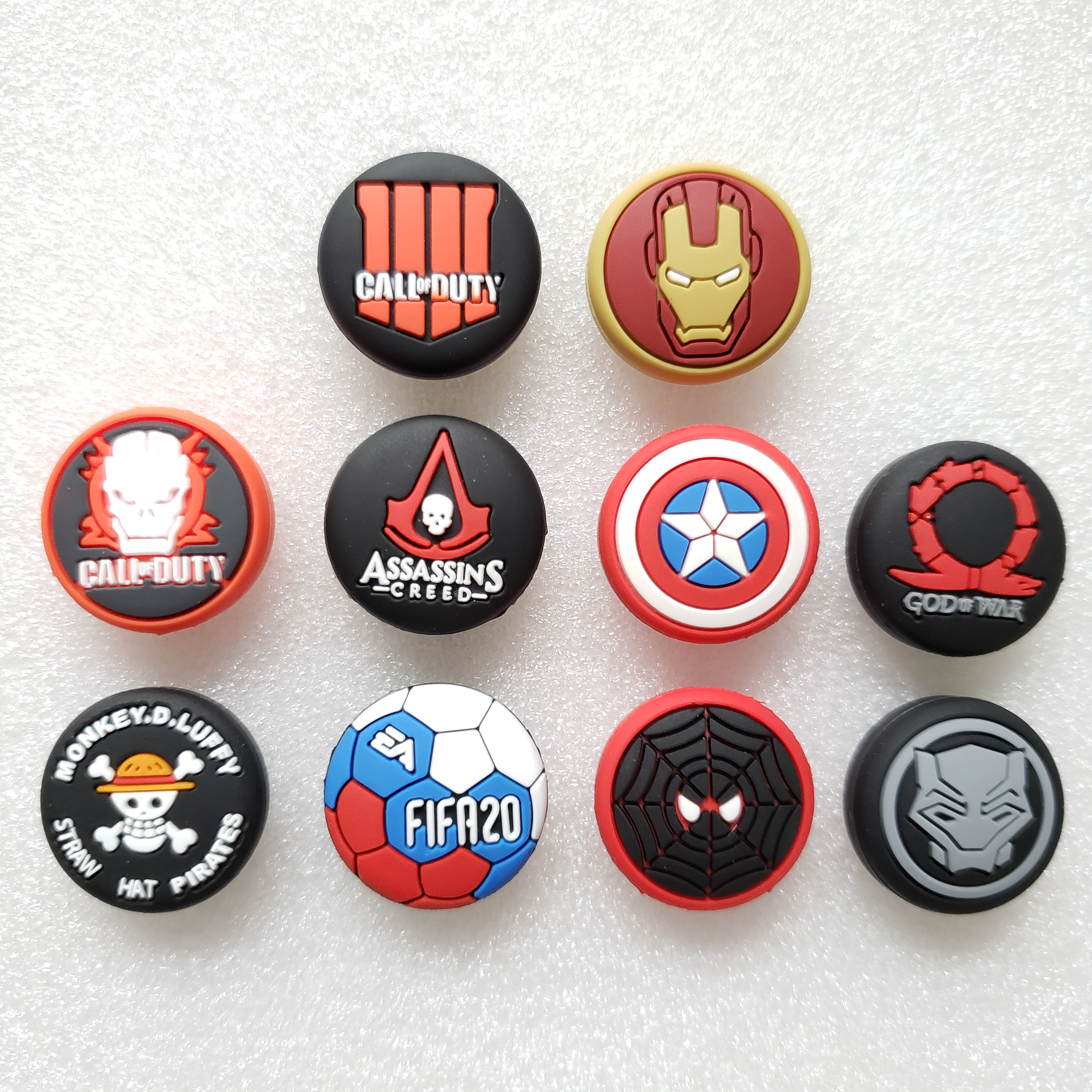 Avengers Call duty Thumb Stick Grip Cap Thumbstick Joystick Cover Case For Sony PS3 PS4 Slim Xbox One 360 Switch Pro Controller(China)