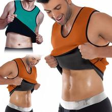 Men Body Sculpting Slimming Body Modeling Vest Belly Men Reducing Shaperwear Fat Burning Loss Weight Waist Trainer Sweat Corset