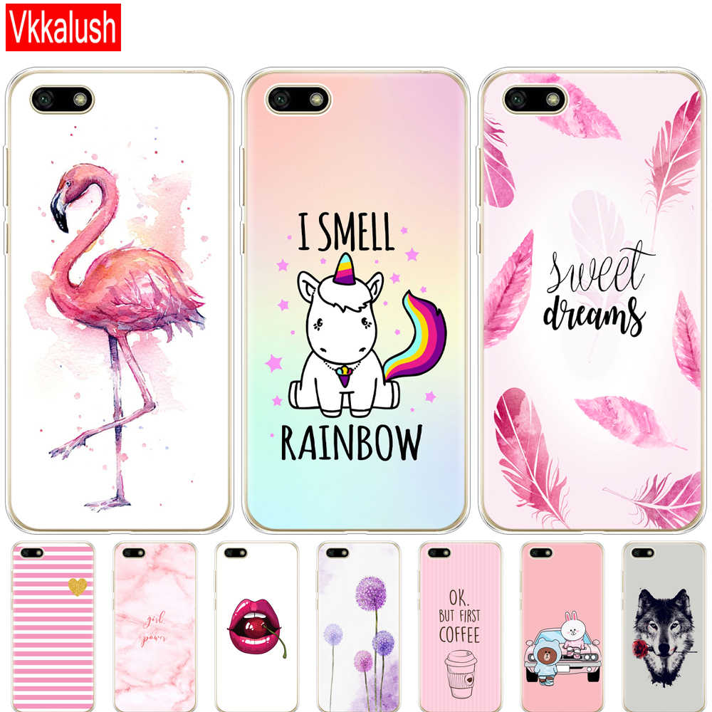 "Silicon case For Huawei Honor 7A Case 5.45"" inch Soft tpu Phone back Huawei Honor 7A 7 A DUA L22 Russian version Back Cover bag"