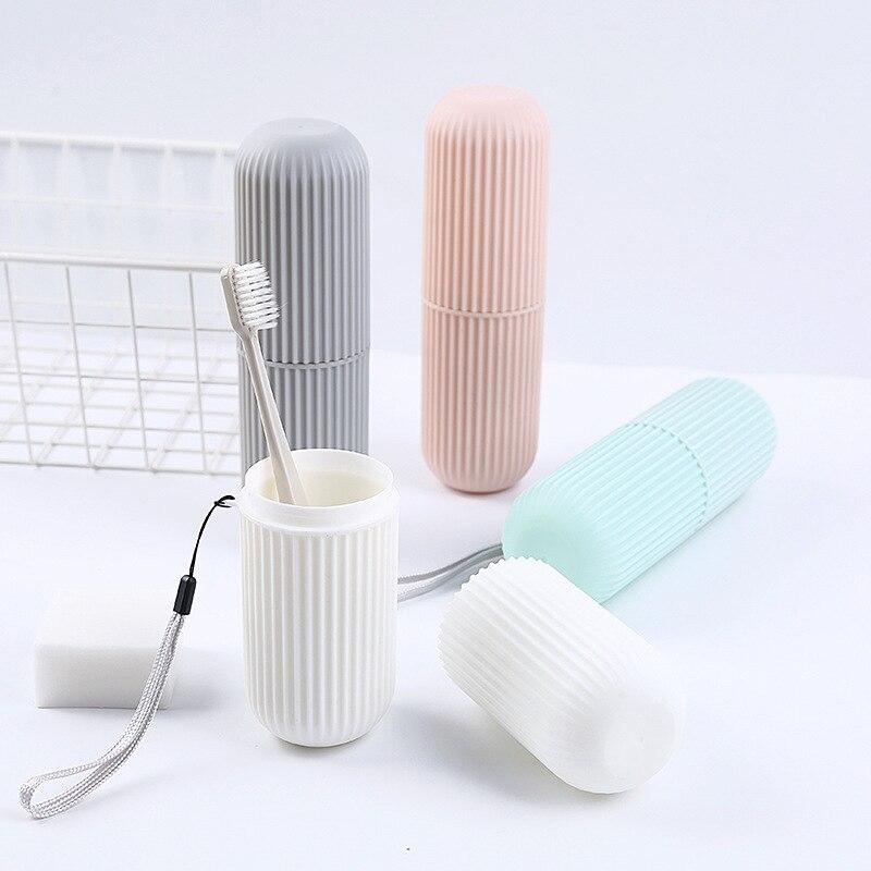 Креативный портативный держатель для зубной пасты и щетки Чехол нескользящая полоска Germproof коробка для хранения пластиковая пара аксессуары для ванной комнаты|Держатели для зубных щеток и пасты|   | АлиЭкспресс - Вещи для дома до 300 руб