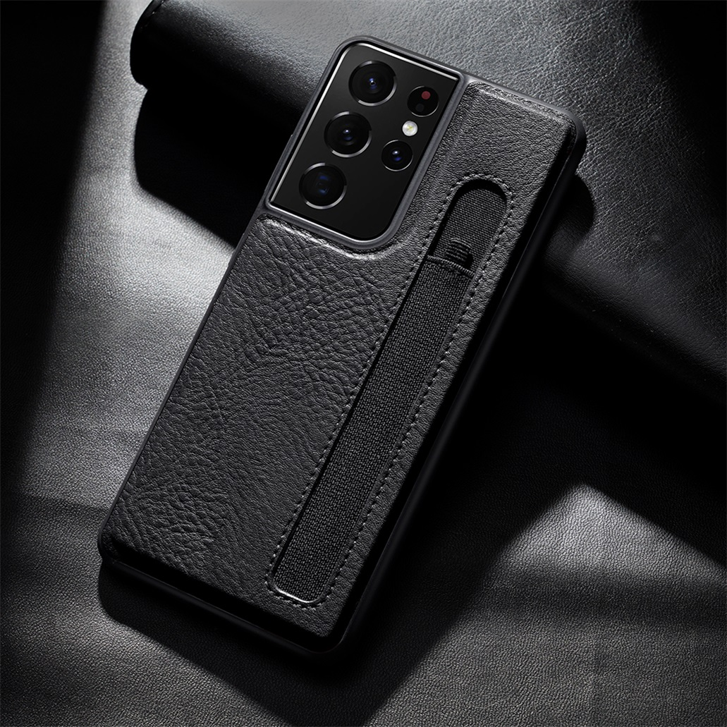 For Samsung Galaxy S21 Ultra Cases Aoge Leather Case Luxuly Texture With Pen Slot Phone Back Cover For Samsung S21 Ultra