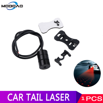 цена на Car Anti-collision Laser Fog Light Tail 12V Brake Parking Lamp Rearing Warning Light Stop Braking Signal Indicators Tail Light