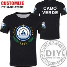 Camiseta de Cabo VERDE para mujer, camiseta con nombre personalizado, número, país, bandera nacional, cv, portugués, universidad, impresión, ropa de Isla de fotos