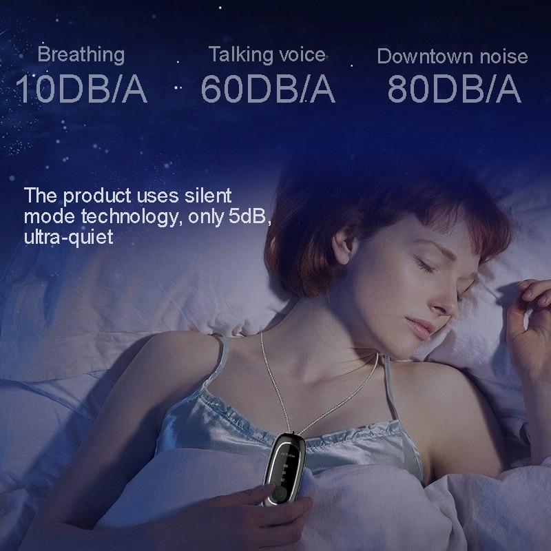 Fashion Personal Wearable Air Purifier Necklace Mini Portable Air Freshener Ionizer Negative Ion Generator Black air purifier 2