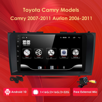 Car Automotivo For Toyota Camry Aurion 2007-2011 Car Radio Multimedia Video Player Navigation GPS Android 10 No 2din 2 din dvd image