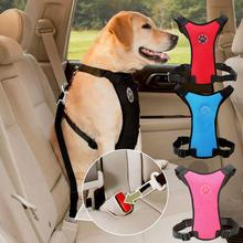 Chest-Strap Leash Dog-Harness Car-Safety-Seat-Belt Breathable Mesh Welcoming Multifunction