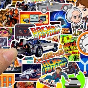 Image 5 - 50Pcs סרט בחזרה לעתיד מדבקות חבילה עבור על מחשב נייד מקרר טלפון סקייטבורד נסיעות מזוודה מדבקה