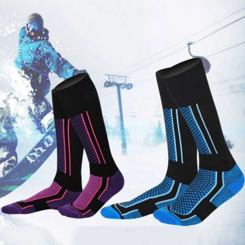 Kids Winter Ski Socks Thicken Winter Outdoor-Indoor Socks Snowboarding Cycling Skiing Hiking Stocking Socks Children Leg WarmerZ