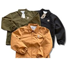 New Spring Jacket Men's Casual Fashion Jacket European And American Trend Tooling Personality Couple Single-Breasted Solid Color