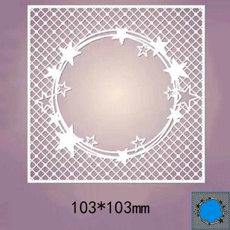 103*103mm star circle frame new Metal Cutting Dies for decoration card DIY Scrapbooking stencil Paper Craft Album template Dies
