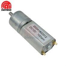12 20GA180 DC Micro Motor Da Engrenagem de Velocidade V Motores Com Roda de Metal Caixa De Velocidades Redutor de Engrenagem de Redução 200 30 100RPM para o Modelo de Robô Carro