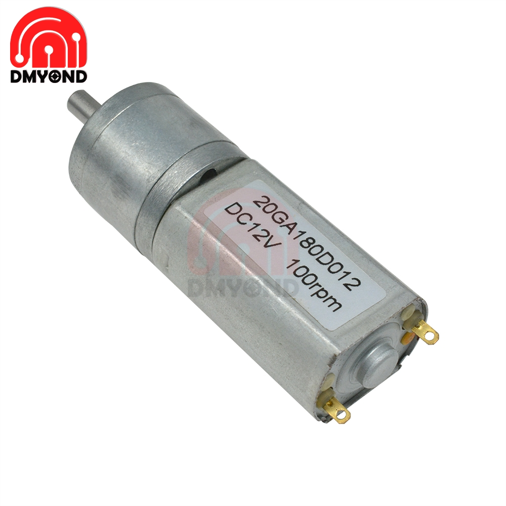 20GA180 DC Micro Speed Gear Motor 12V Reducer Reduction Gear Motors With Metal Gearbox Wheel 200 30 100RPM for Car Robot Model image