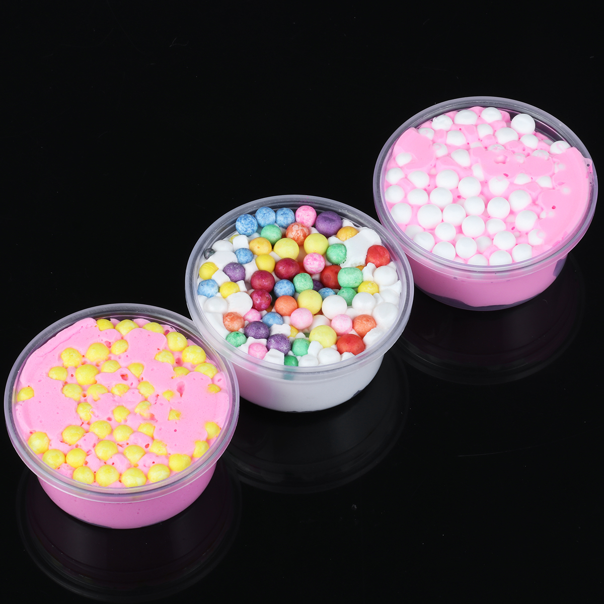 Kids Kawaii Anti-stress Squishy Colorful Nice Slime Toys For Children Butter Clear Glitter Floam Beads Slime