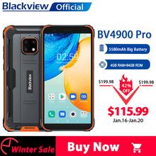Blackview BV4900 Pro IP68 wytrzymały telefon 4GB 64GB Octa Core Android 10 wodoodporny telefon komórkowy 5580mAh NFC 5 7 cala 4G telefon komórkowy tanie tanio Nie odpinany CN (pochodzenie) Rozpoznawania twarzy Wcdma Inne 13MP 4050 Nonsupport Wspólnie z gniazdo karty SIM english
