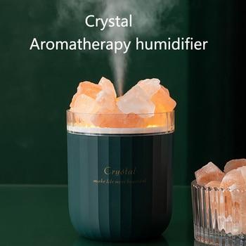 Humidificador portátil de cristal para aromaterapia, difusor de aceites esenciales inalámbrico por...