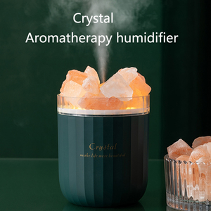Portable Crystal Aromatheraphy Humidifier USB Wireless Aroma Essential Oil Diffuser Air Humidificador with Atmosphere Lamp Home