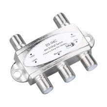 Высокое качество ТВ DiSEqC переключатель 4x1 DiSEqC спутниковая антенна плоский LNB переключатель новейший ТВ тюнер переключатель для ТВ приемника