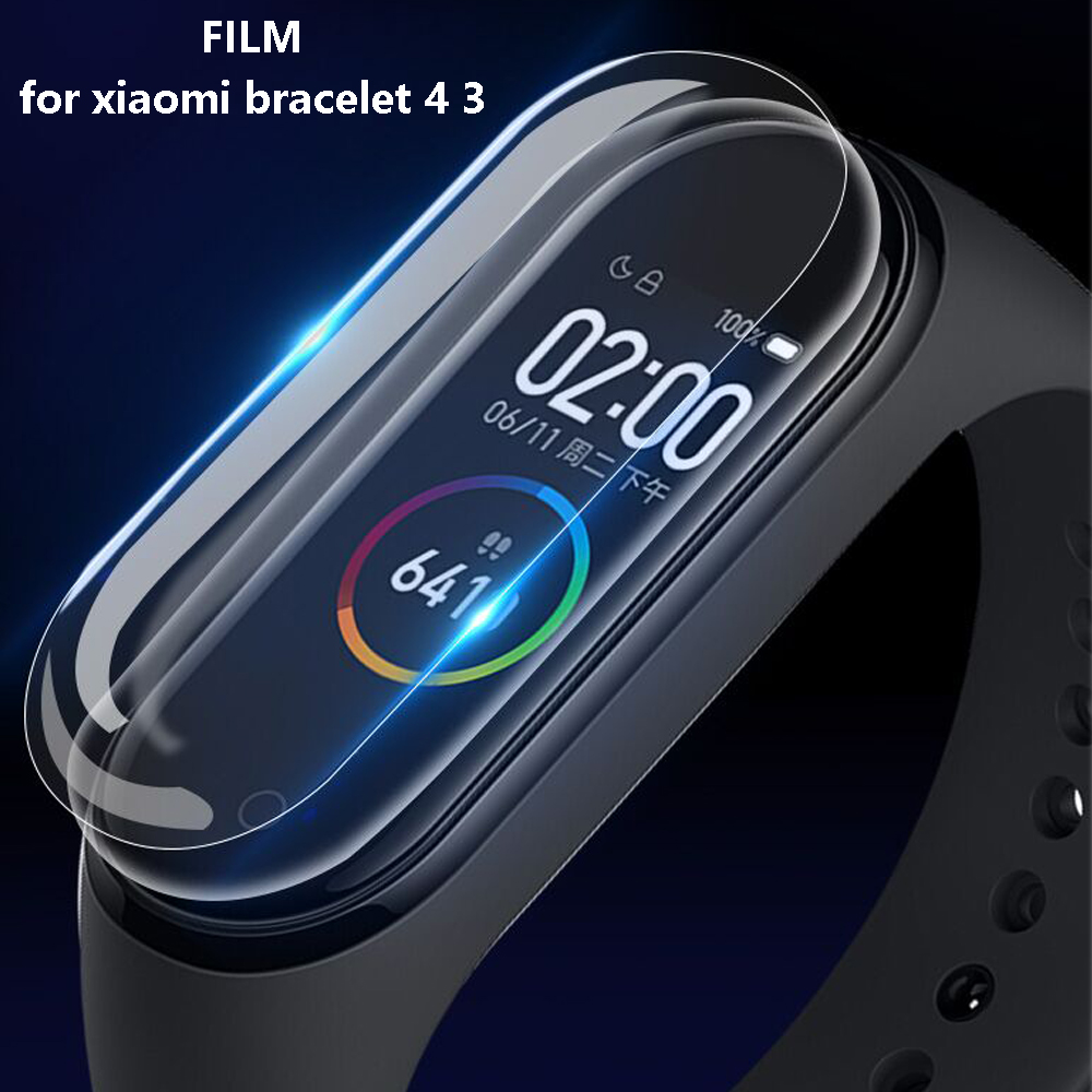 Glass For Xiaomi Mi Band 4 3 Screen Protector Film For Xiaomi Mi Band 3 4 NFC Smart Bracelet Accessories Full Screen Film