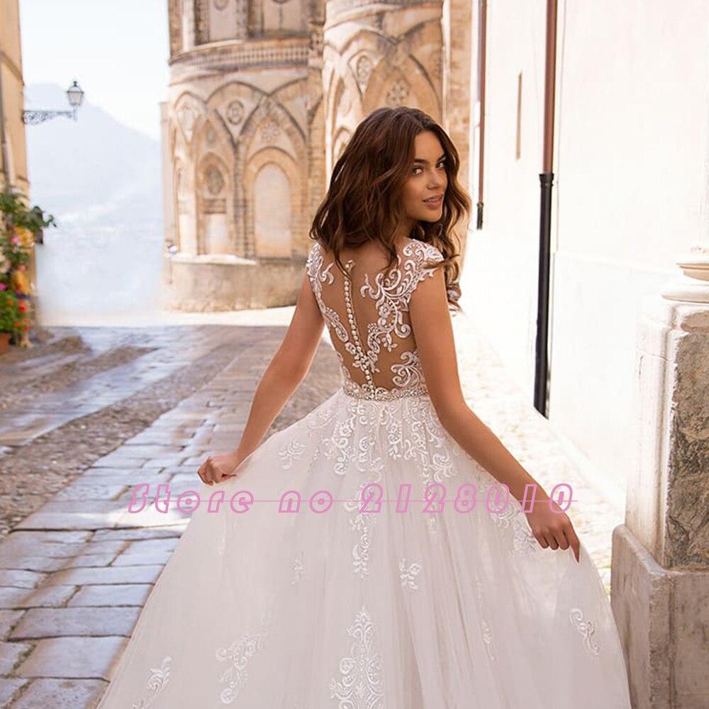 Image 4 - Appliques Lace Mermaid Wedding Dresses With Beading Crystal Removable Train 2020 China Shop Online Vestido De Noiva SereiaWedding Dresses   -