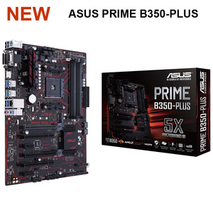 Новая Asus PRIME B350-PLUS системная плата AMD B350 Socket AM4 DDR4 64GB M.2 настольная B350 материнская плата USB3.1 PCI-E 3,0 AM4 DDR4 ATX