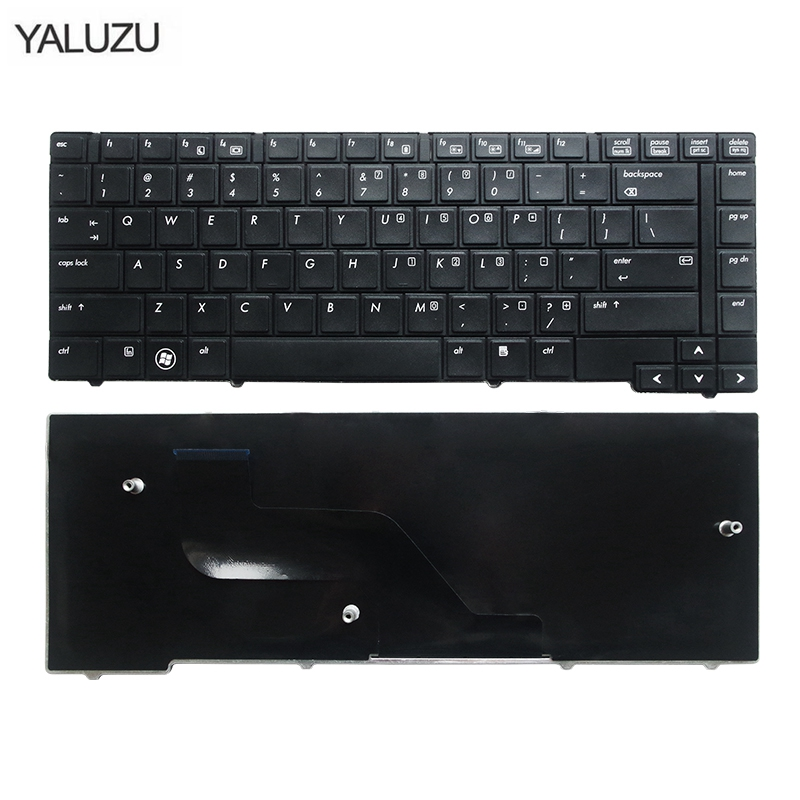 YALUZU US Keyboard For HP ProBook 6440B 6450B 6445B 6455B Series English Laptop Keyboard (Without Point Stick)
