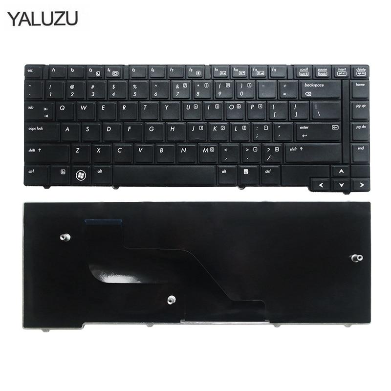YALUZU US Keyboard For HP ProBook 6440B 6450B 6445B 6455B Series English Laptop Keyboard (Without Point Stick)