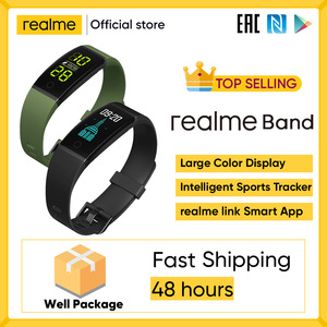 Realme Группа Смарт Браслет большой Цвет Дисплей спортивные трекер монитор сердечного ритма 16 мм ремешок уведомления IP68 USB зарядка