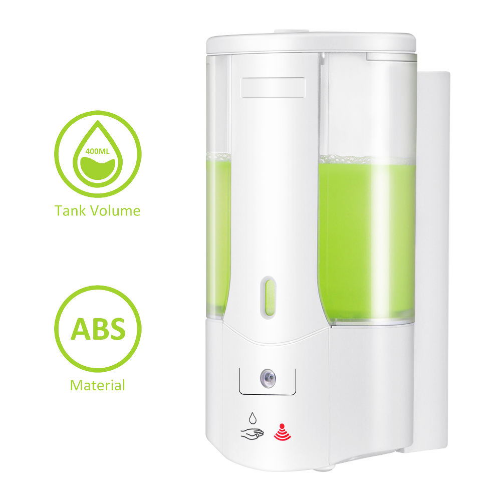 400ml Automatic Soap Dispenser Touchless Sensor Hand Sanitizer Shampoo Detergent Dispenser Wall Mounted For Bathroom Kitchen 400ml Automatic Soap Dispenser Touchless Sensor Hand Sanitizer Shampoo Detergent Dispenser Wall Mounted For Bathroom Kitchen