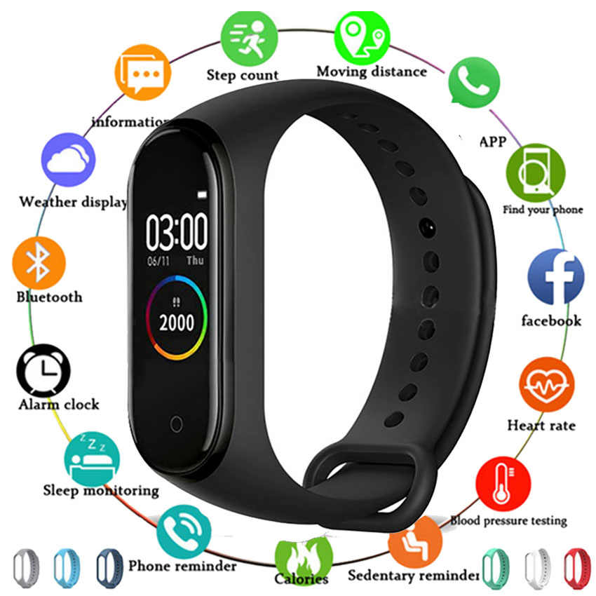 Hot Smart Horloge Band Mannen Vrouwen Kids Smartwatch Reloj Stap Hr Montre Sluit Voor Apple/Xiao Mi/Huawei pk Mi Band 4 Vs Iwo 10/W34