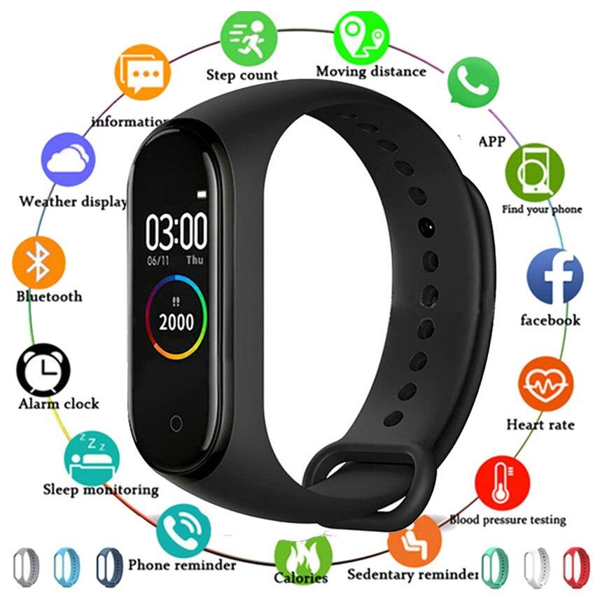 HOT Smart Watch Band Men Women Kids Smartwatch Reloj Step HR Montre Connect For Apple/Xiaomi/Huawei PK Mi Band 4 VS IWO 10/W34