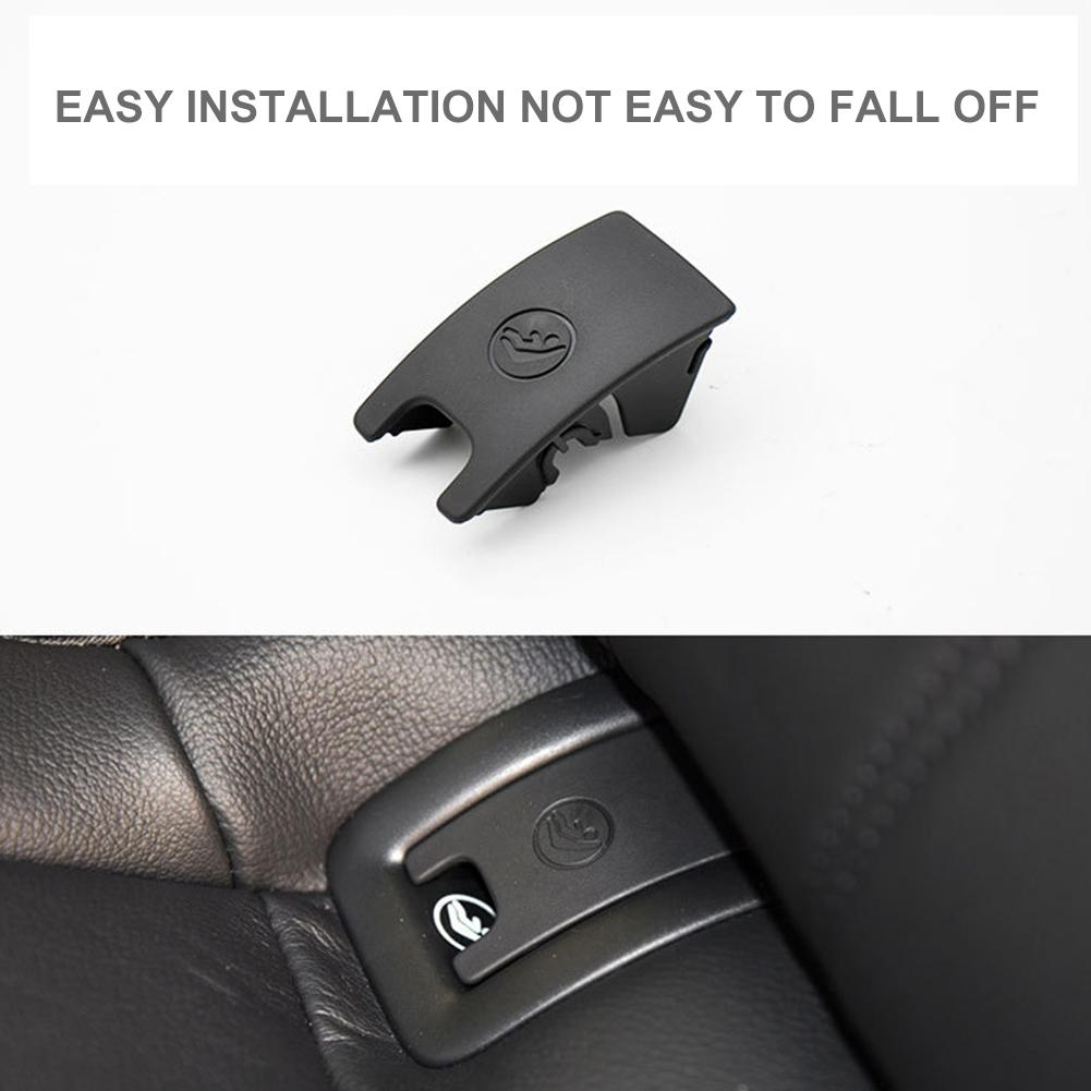 Rear Child Seat Buckle Fixed <font><b>ISOFIX</b></font> Cover Black Car Rear Seat Hook Restraint For A4 A6 Car Safety Seat Belt Buckle Car Styling image