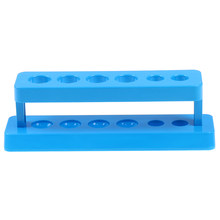 Rack per provette in plastica blu 6 fori supporto per provette da laboratorio supporto per scaffali materiale scolastico 1 pz