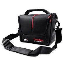 Fosoto DSLR sac pour appareil Photo numérique étui pour appareil Photo vidéo sac à bandoulière étanche pour Sony Canon Nikon appareil Photo reflex numérique et objectif