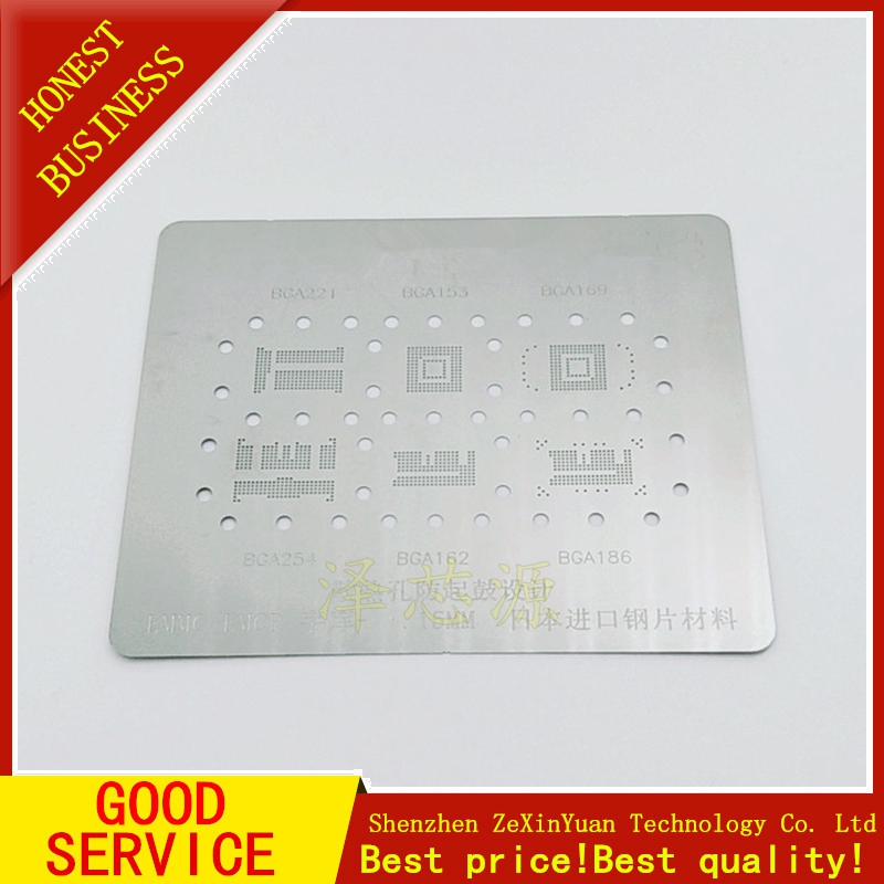 BGA221 BGA153 BGA169 BGA254 BGA162 BGA186 EMMC EMCP BGA Stencil Reballing IC Pins Solder BGA Direct Heating Template