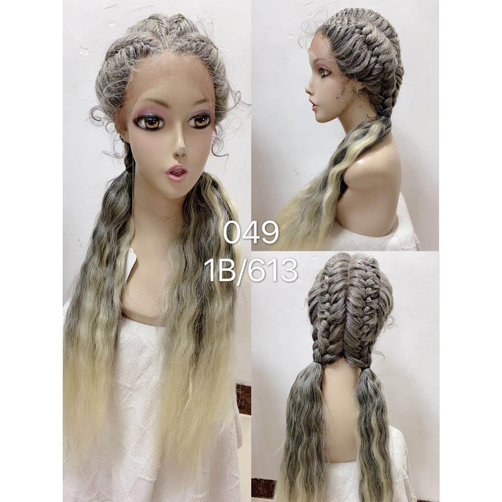 26 polegadas trança peruca peruca dianteira do laço sintético caixa de trança peruca para preto cabelo do bebê feminino afro americano perucas do falso locs peruca