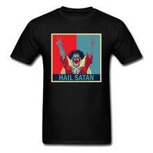 Hail Satan Tshirts Funny Tops Tees Adult T Shirt Summer Sweatshirts For Men Lovers Day Gift T-shirts Bible Black Clothes(China)