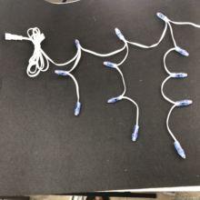 Индивидуально светодиодный шнур Icicles полного цвета; Светодиодный контроллер 12 в пост. Тока WS2811; Полностью белый провод; IP68;60 точек/комплект; С 2 м хвостиком xConnect