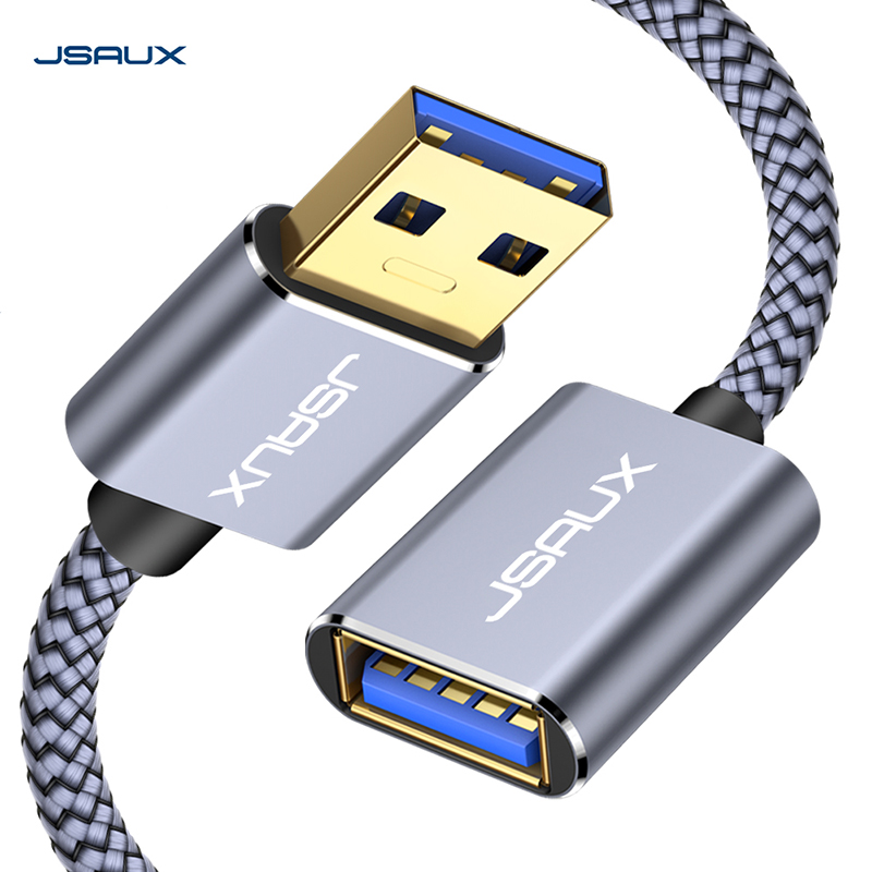 USB 3.0 Extension Cable, JSAUX  USB A Male To USB A Female Extender Cord 5Gbps Data Transfer USB Flash Drive, Keyboard, Mouse