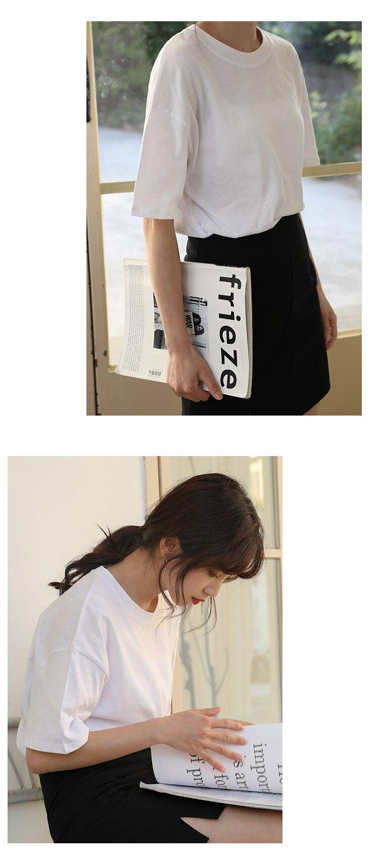 H6480374a17fb4eaf9c23c50d942e47e5z - Summer O-Neck Short Sleeves Minimalist Loose Basic T-Shirt