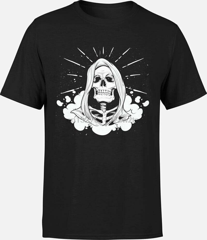 T-shirt death-crane bone skeleton reaper graphic humor trash
