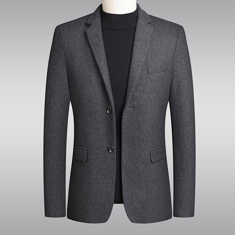 2020 New style Fashion Men High quality woolen business suit/Male autumn slim fit leisure Blazers Jackets S-4XL