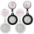 Карманные часы с выдвижной катушкой, медсестринский доктор, стетоскоп с ритмом сердечного ритма, со стеклянным знаком, подарок для работы в ...