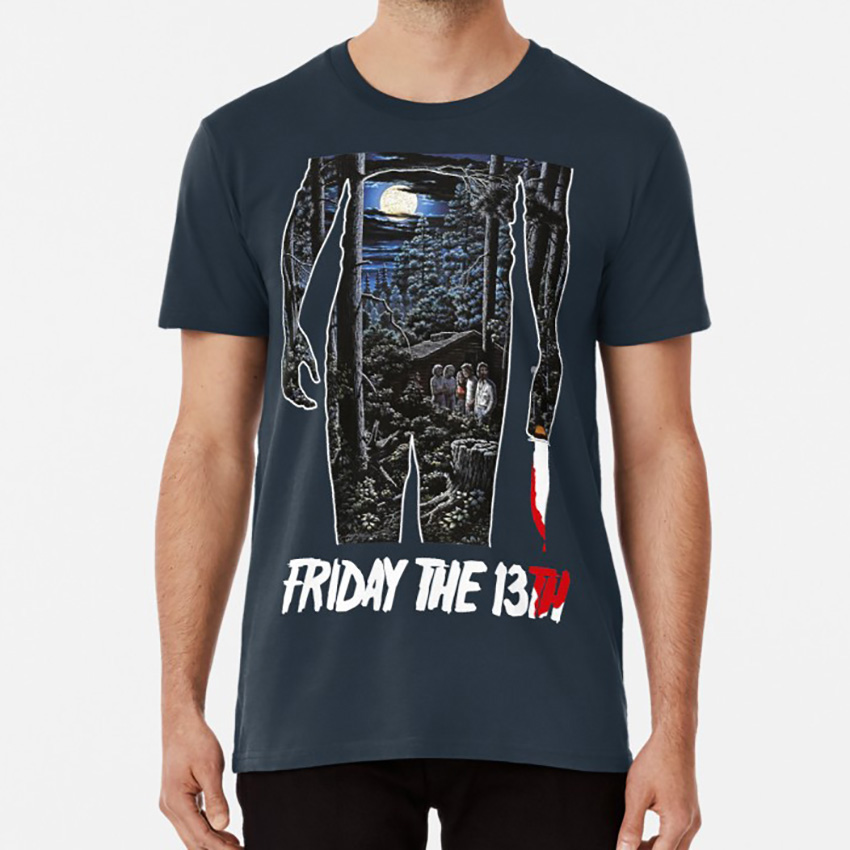 Friday The 13th Movie Poster T Shirt Jason Jason Voorhees Voorhees Friday 13th Friday The 13th Horror Slasher Killer Movie image