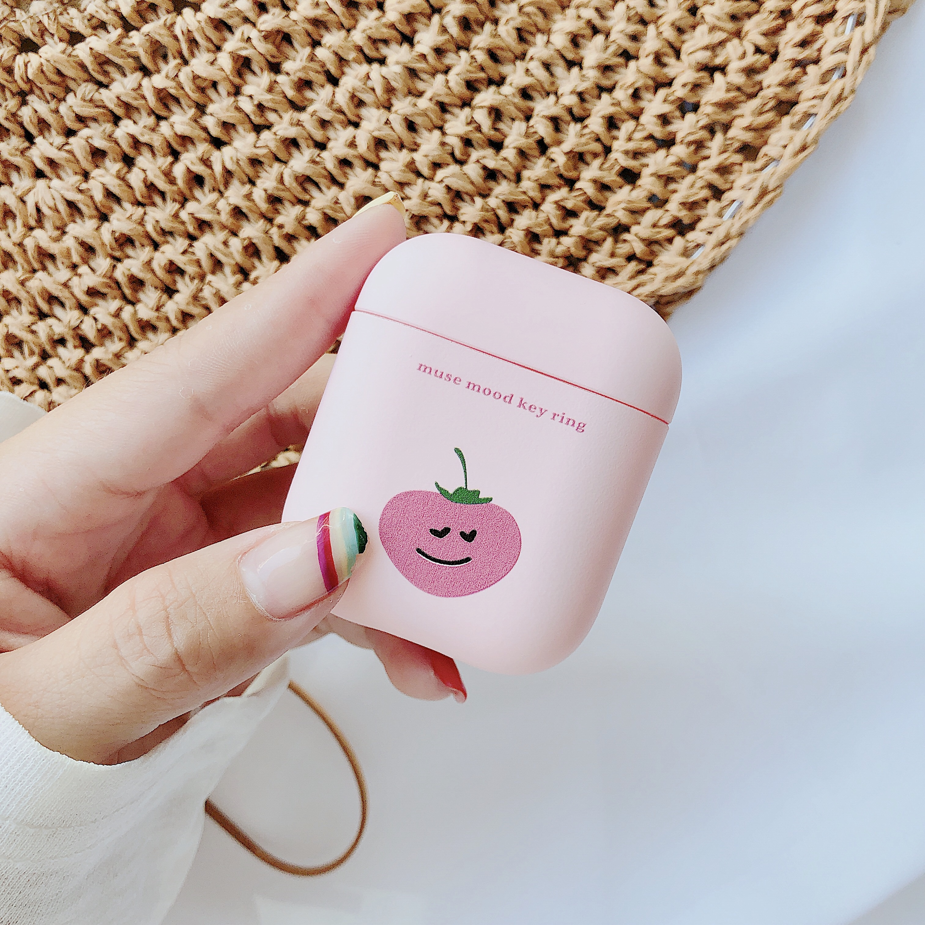 Купить с кэшбэком Cute Pink Hard PC Case For Airpods Wireless Bluetooth Earphone Bag Cover Case For Air Pods Headset Set Protective Boxs Girl Gift