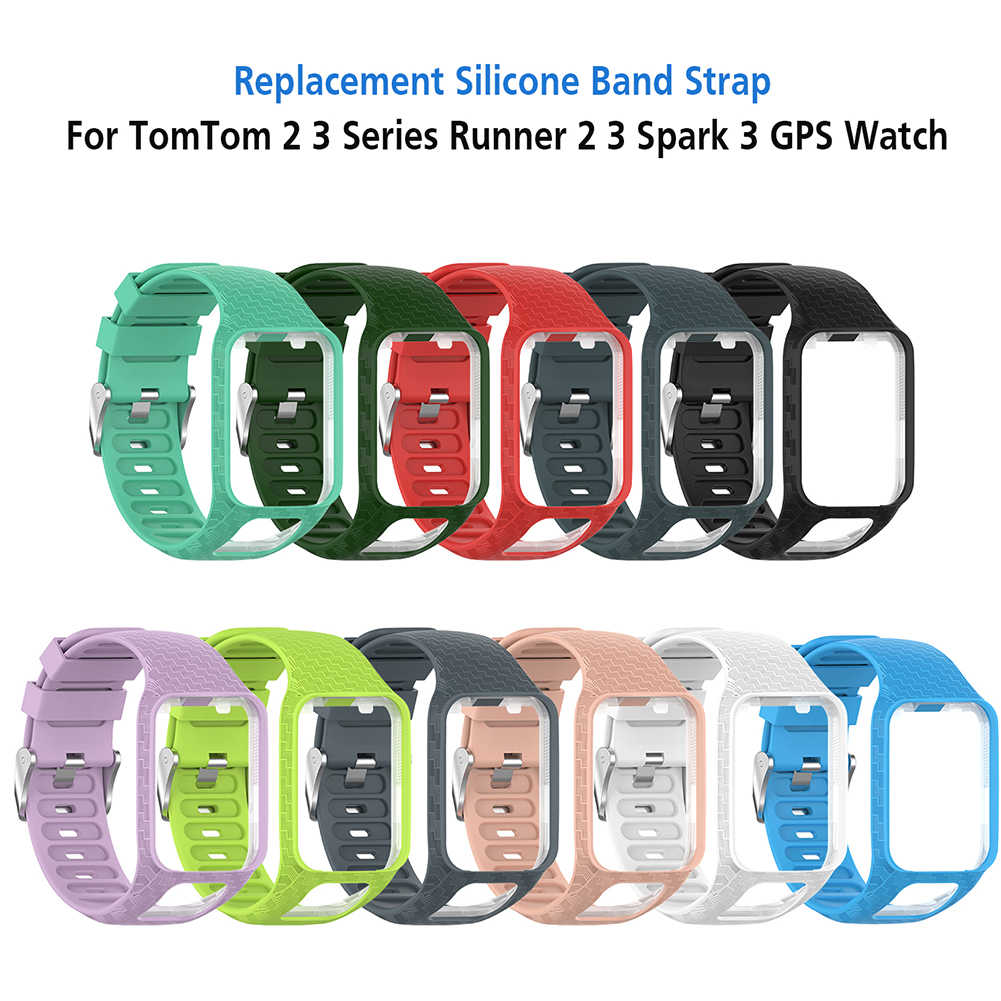 Mr Wrist Band Strap for TomTom 2 3 Runner Spark Music Replacement Bracelet Soft Watchband Silicone Belt Watch Bracelet Accessory